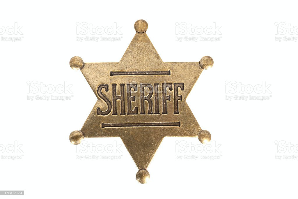 Sheriffs Badge stock photo
