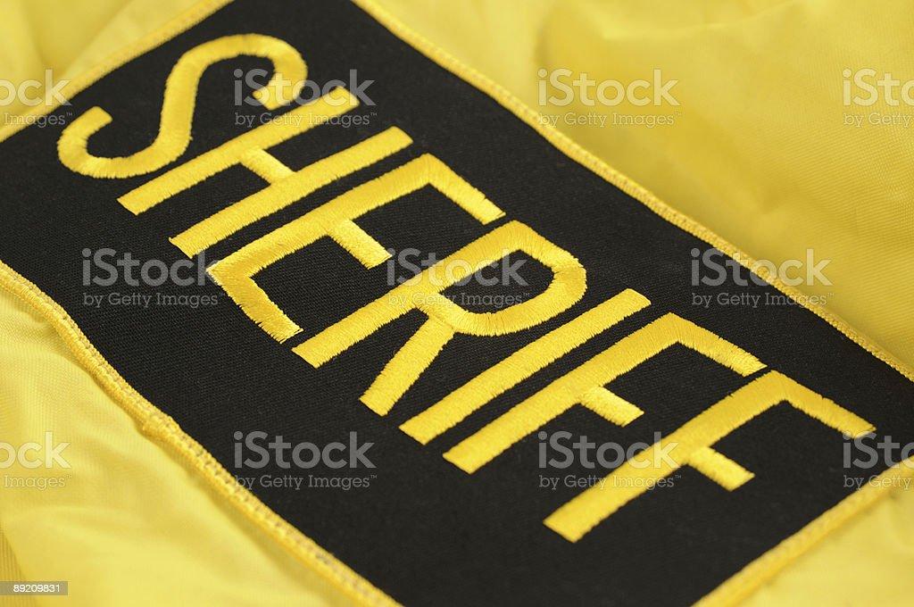 Sheriff's Raid Jacket patch stock photo
