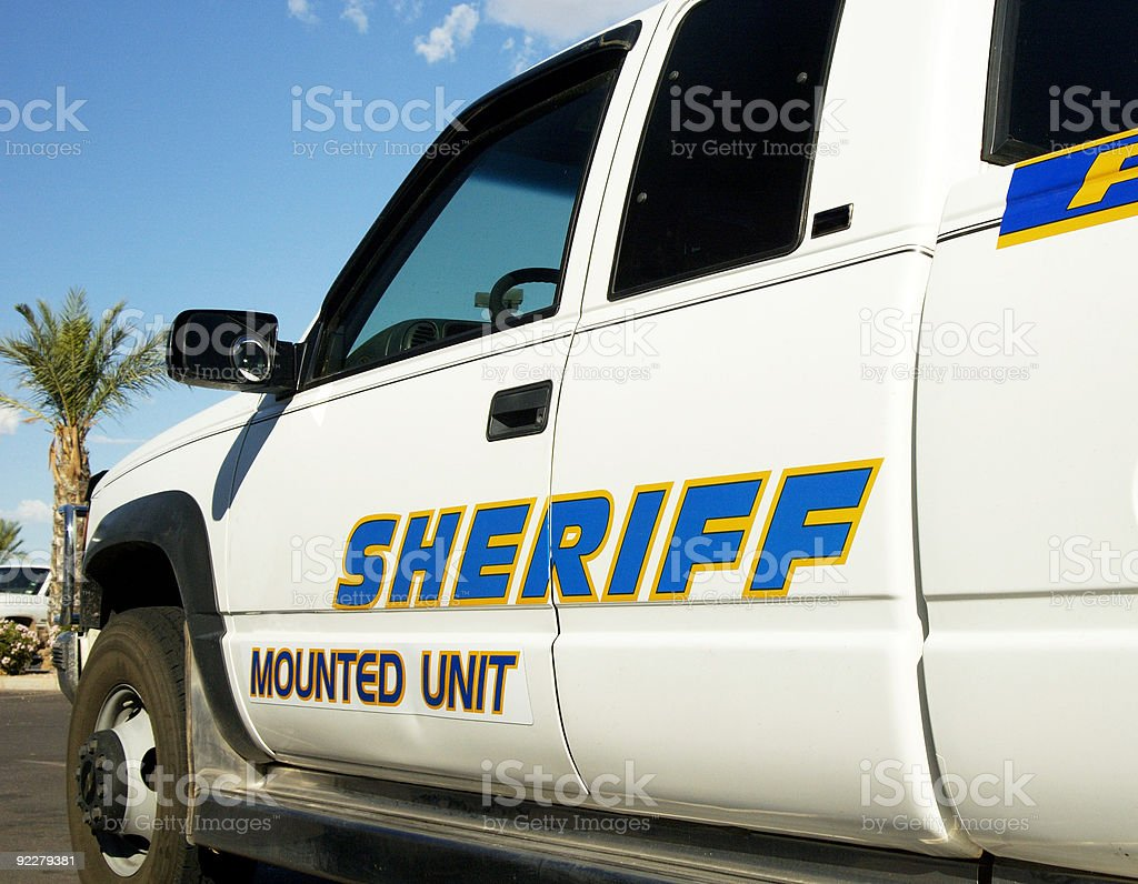 Sheriff's vehical royalty-free stock photo