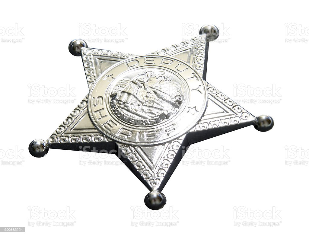 Sheriffstern stock photo
