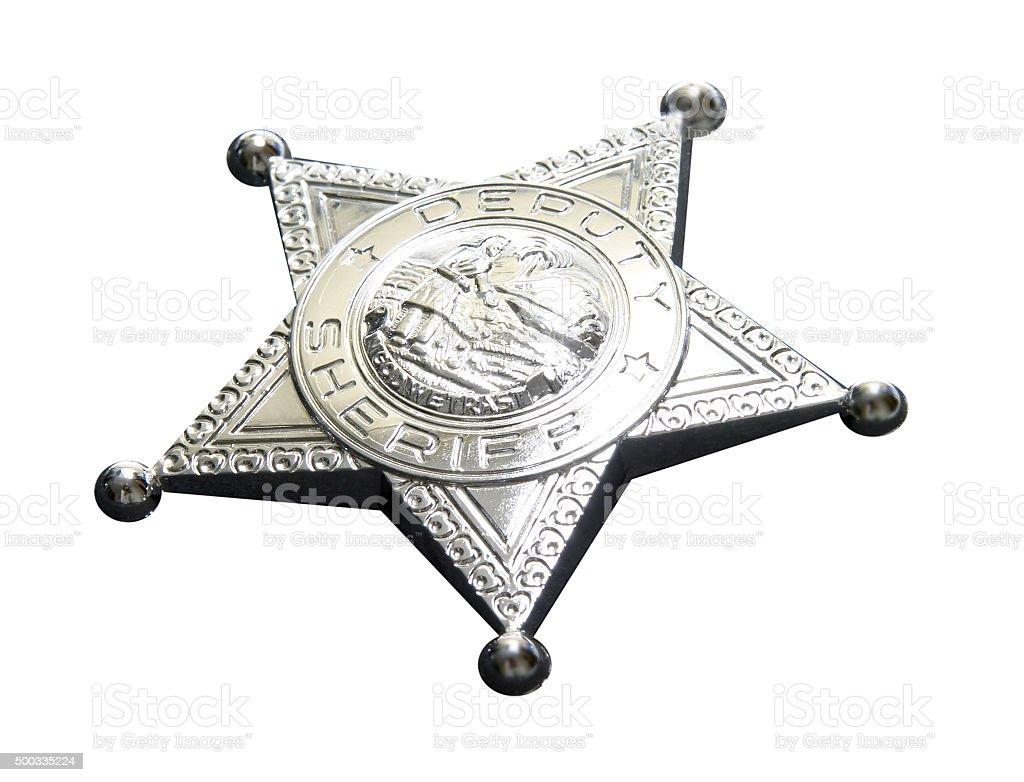 Sheriffstern stock photo