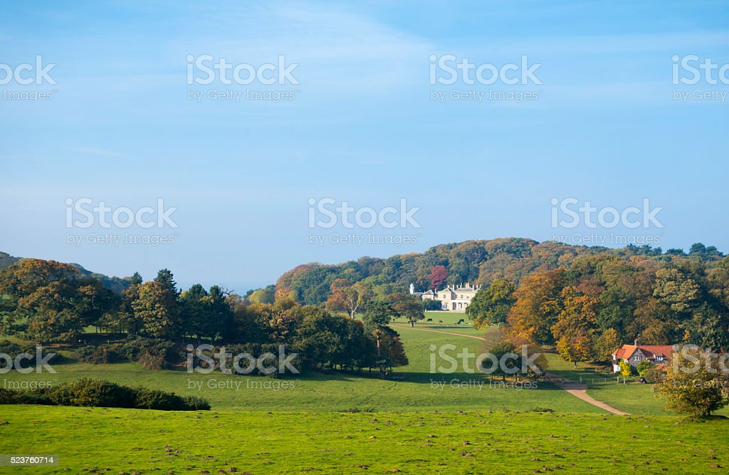 Sheringham Park on an autumn day stock photo