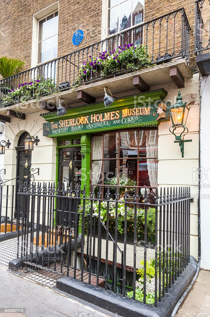 Sherlock Holmes Museum at 221B Baker Street in London stock photo