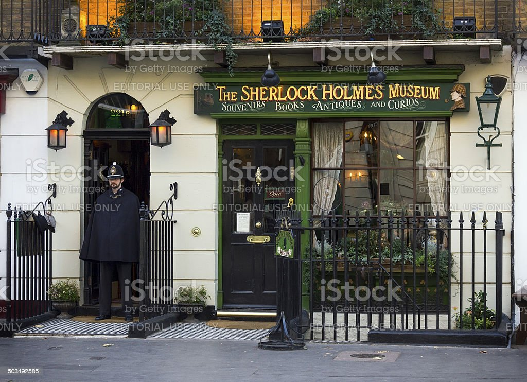 Sherlock Holmes Museum, London stock photo