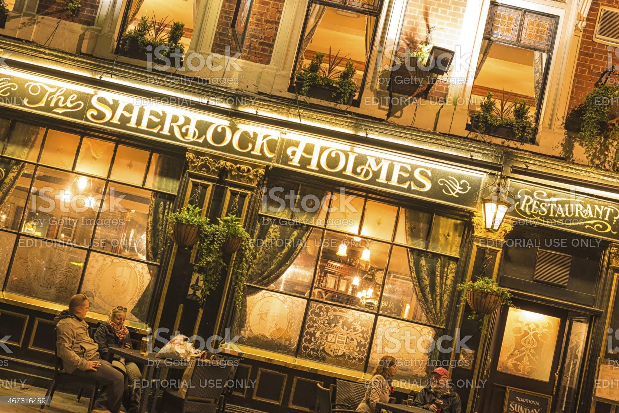 Sherlock Holmes Restaurant royalty-free stock photo