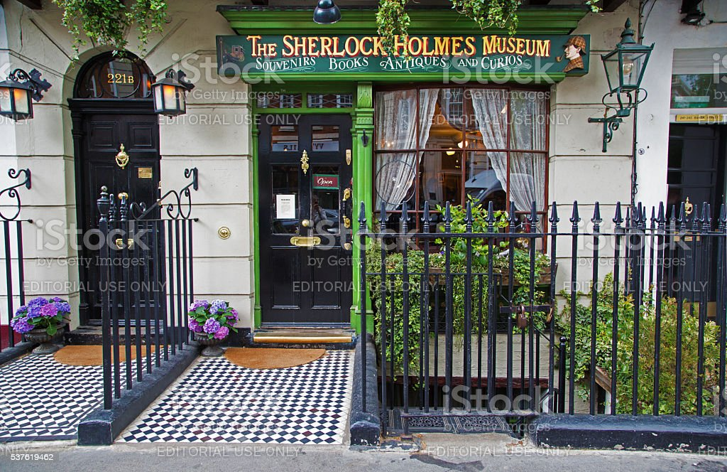 Sherlock Holmes shop in London stock photo