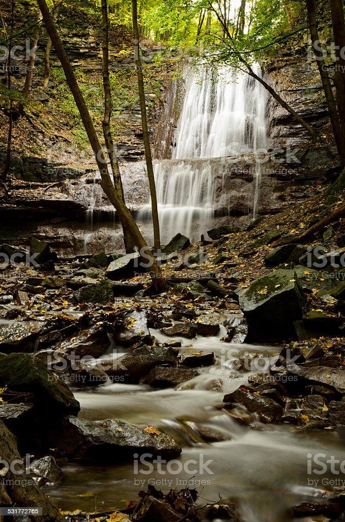 Sherman Falls, Ancaster Creek royalty-free stock photo