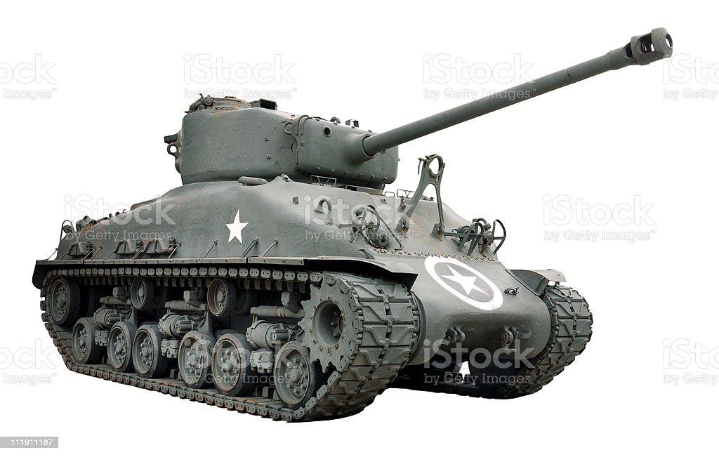 Sherman Tank stock photo