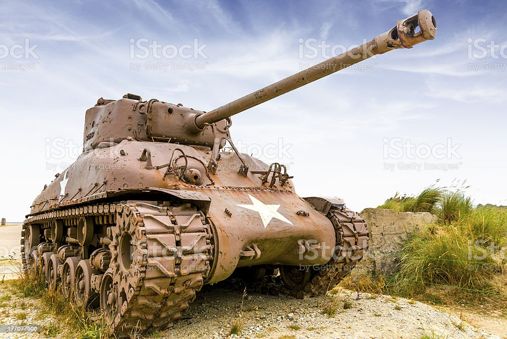 sherman tank stock photo