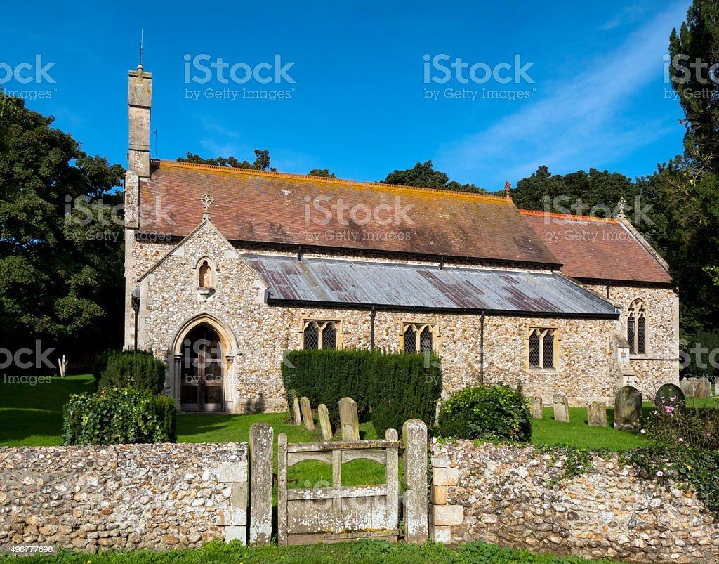 Shernborne parish church, Norfolk stock photo