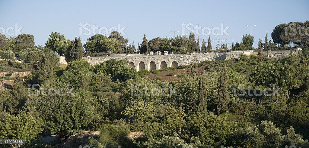 Sherover Promenade ( Armon Hanatziv) at Jerusalem,Israel stock photo