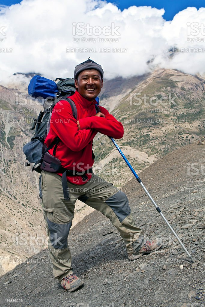 Sherpa Trekking guide, Nepal stock photo