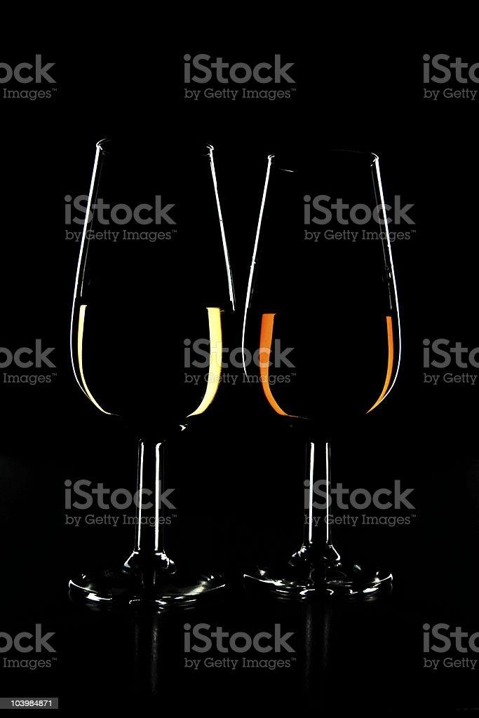 sherry wine cups stock photo