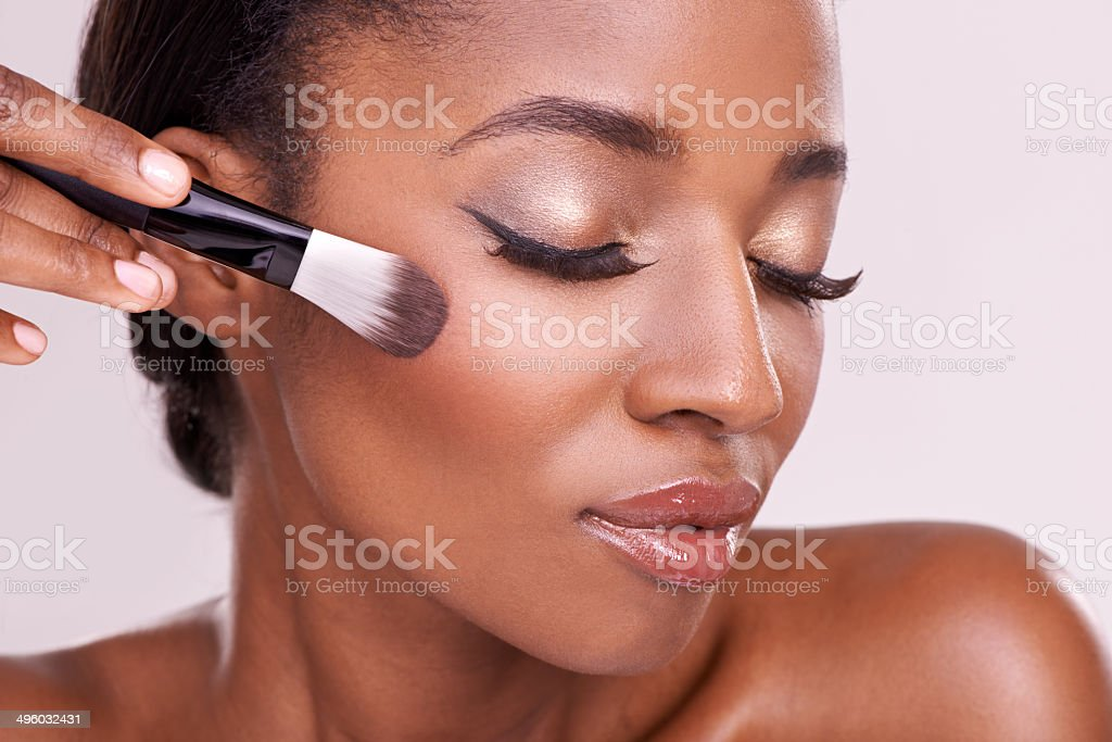 She's a beautiful canvas stock photo