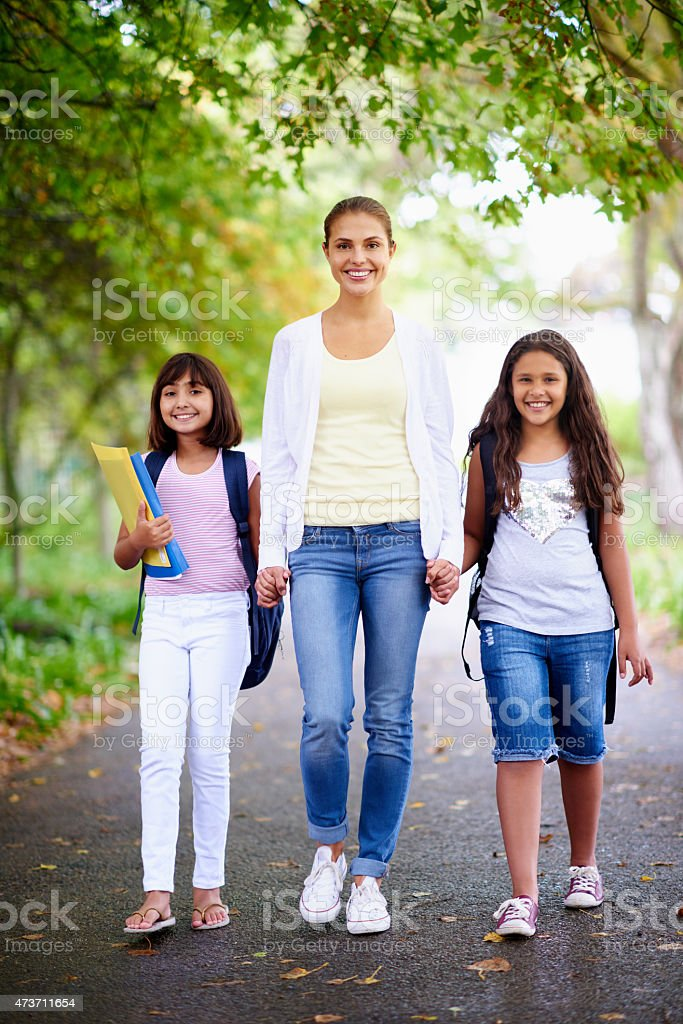 She's a caring educator stock photo