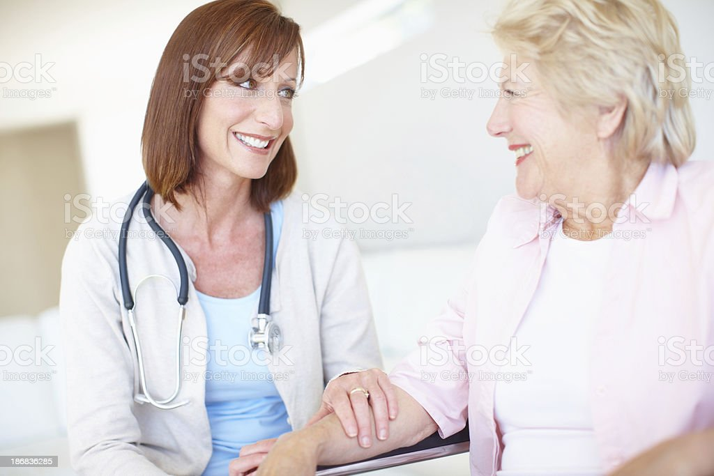 She's a comfort to her patients stock photo