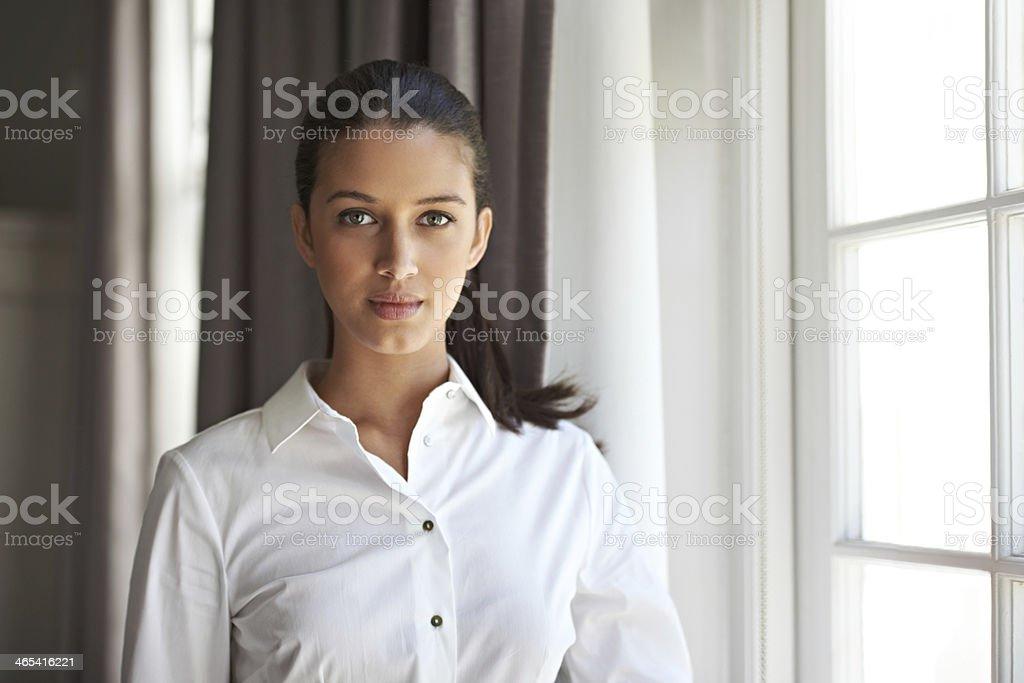 She's a consummate professional royalty-free stock photo