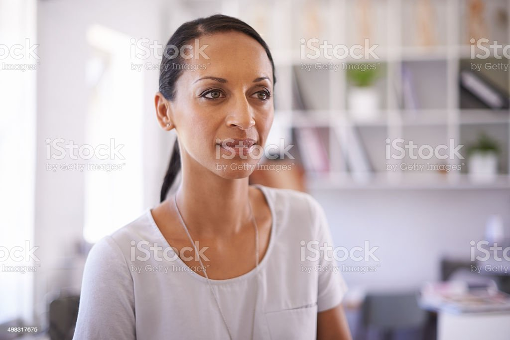 She's a creative professional royalty-free stock photo