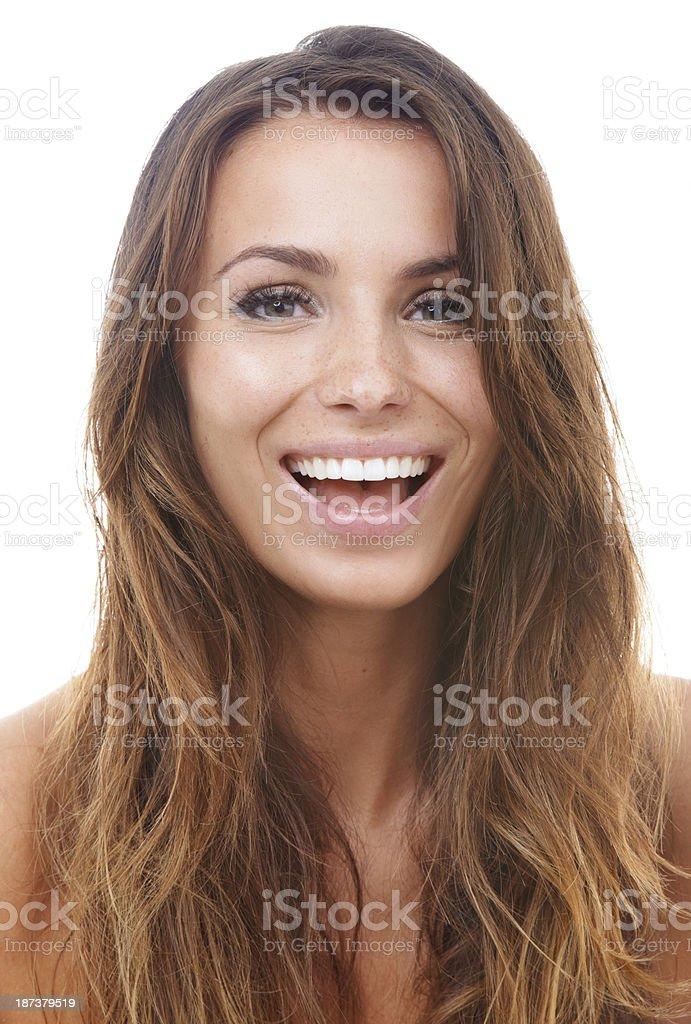 She's a dentist's dream royalty-free stock photo