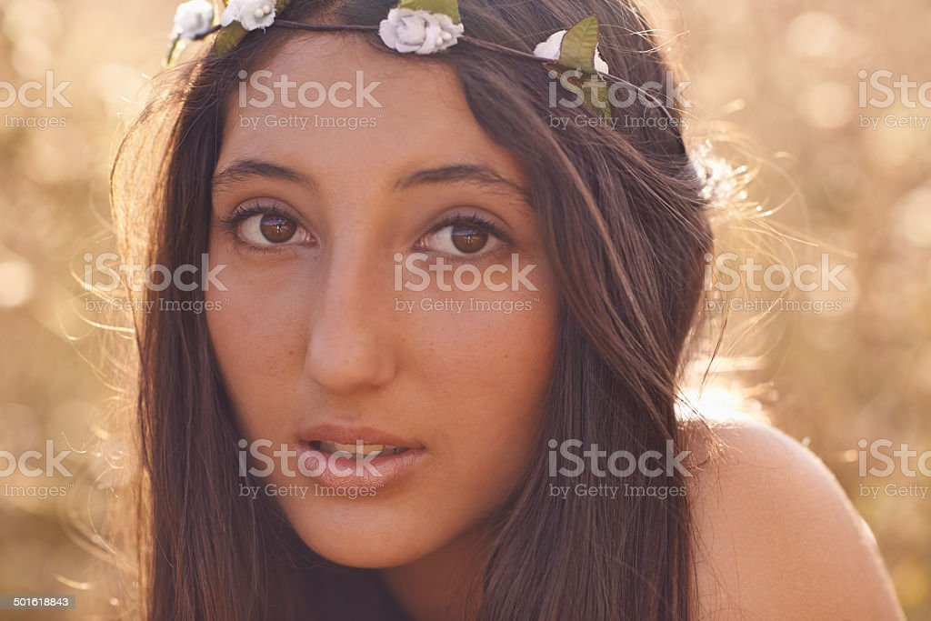 She's a flower child royalty-free stock photo