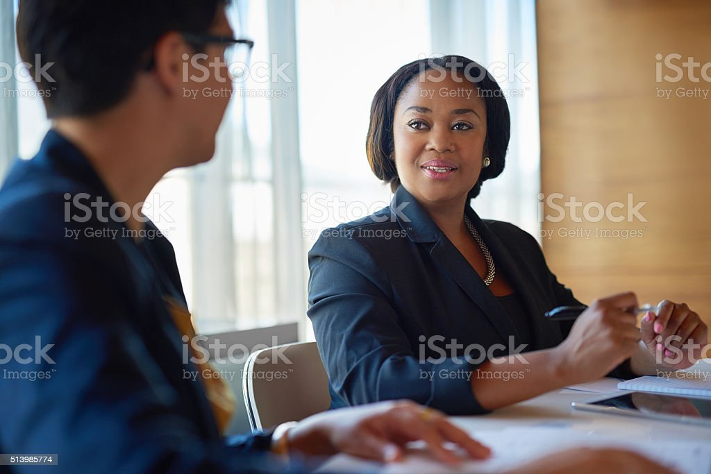 She's a great asset to the company stock photo