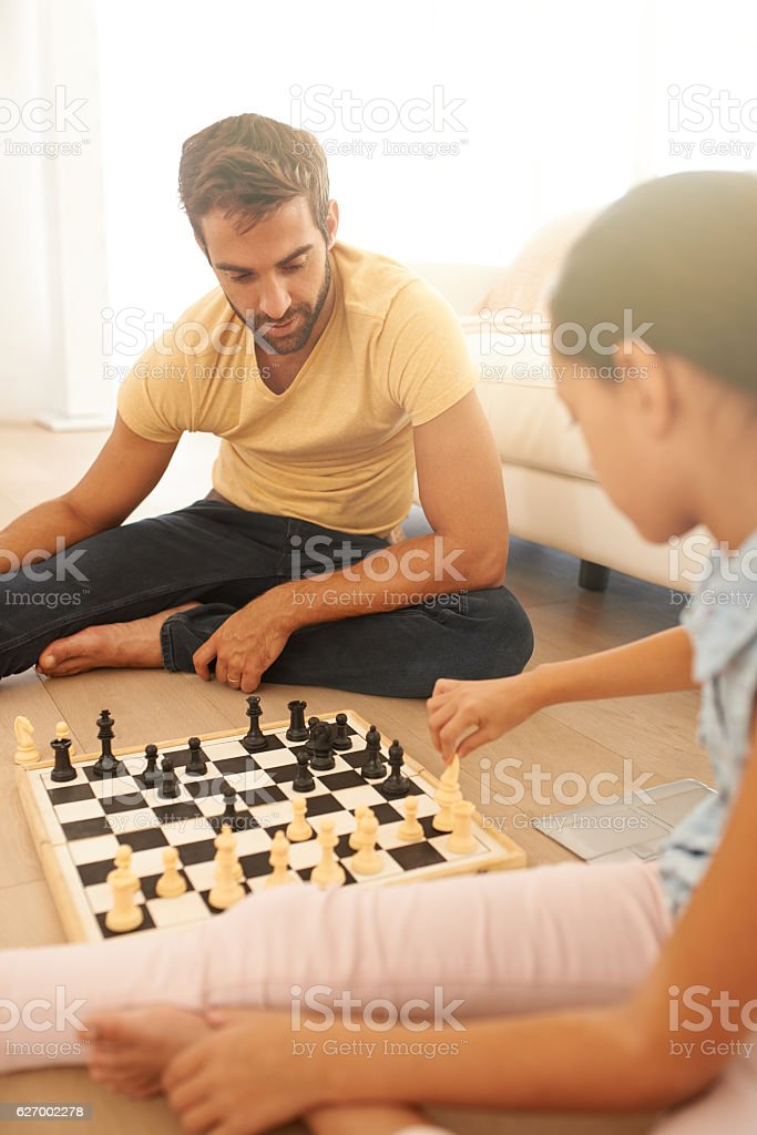 She's a great competition when it comes to chess stock photo