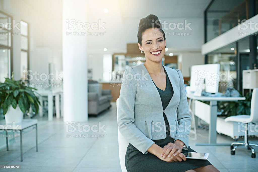 She's a great leader stock photo