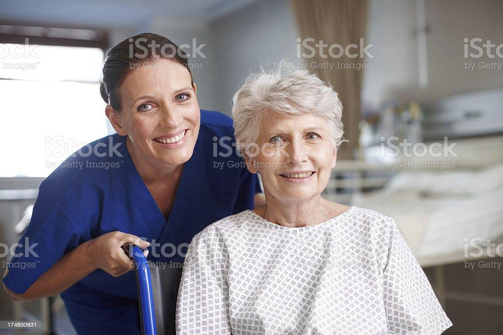 She's a great nurse royalty-free stock photo