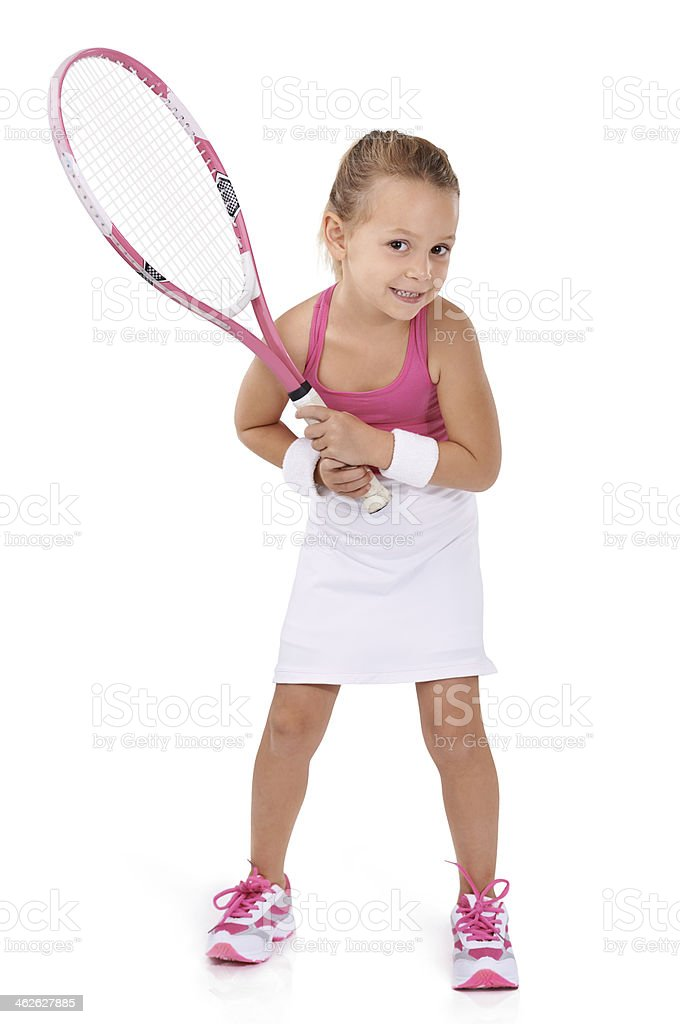 She's a little pro! royalty-free stock photo