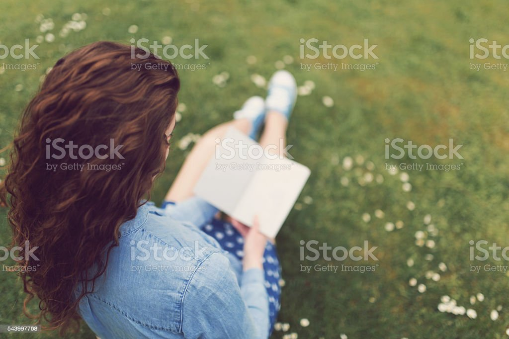 She's A Passionate Reader stock photo