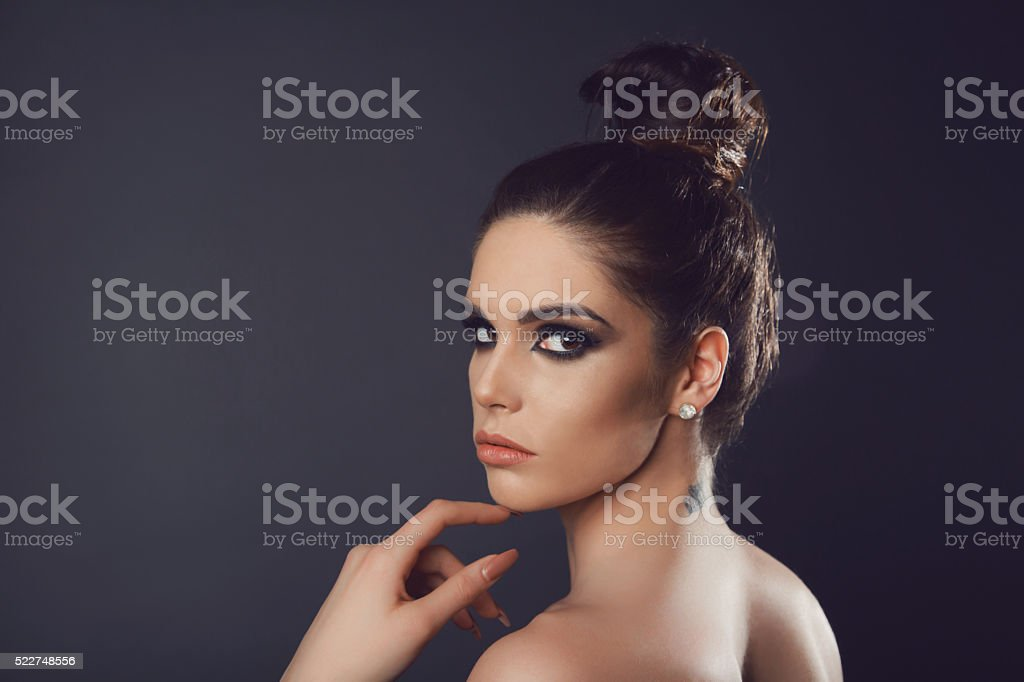 She's A Perfect 10 stock photo