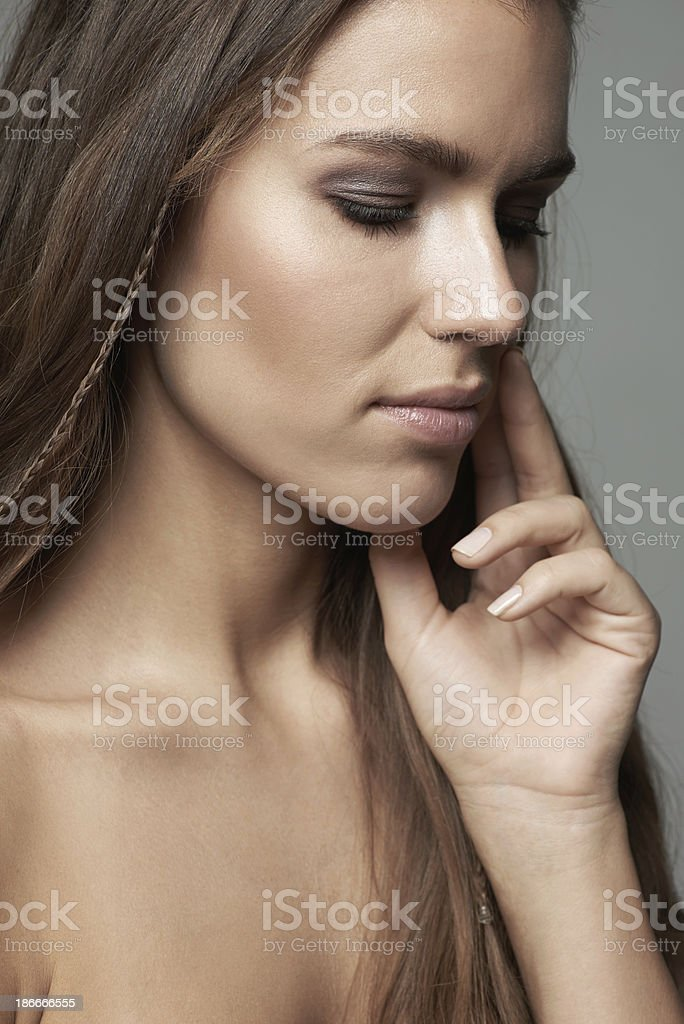 She's a perfect beauty royalty-free stock photo