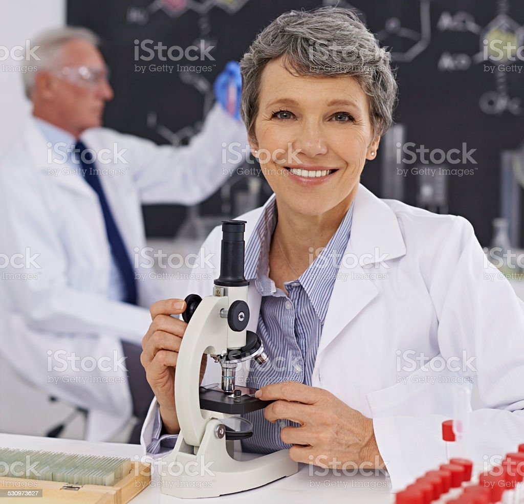She's a respected member of the faculty stock photo
