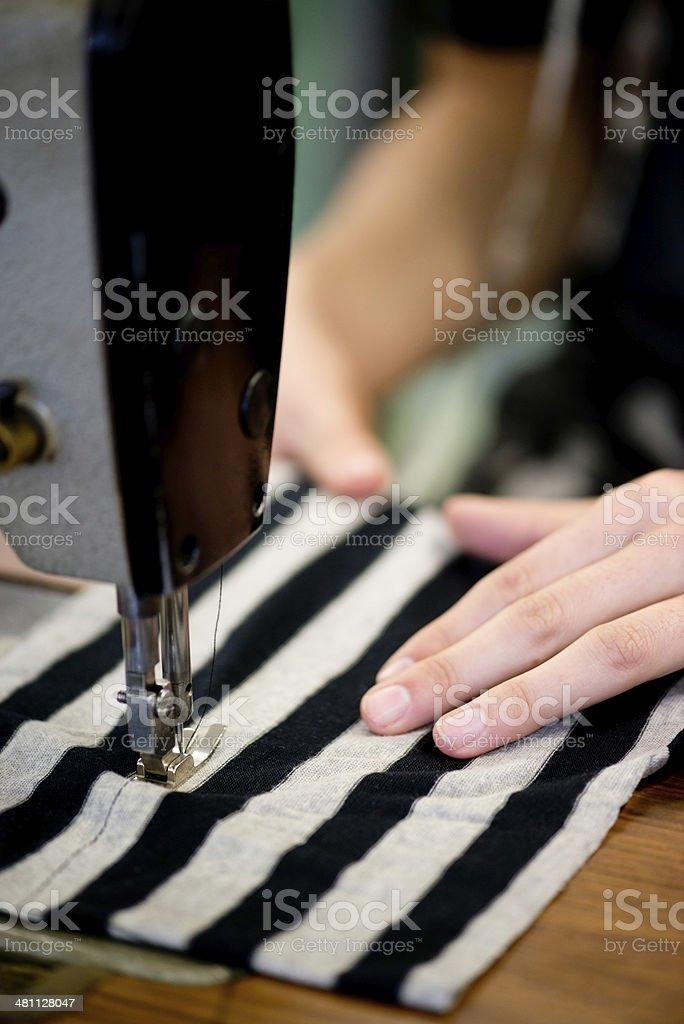 She's a skilled seamstress royalty-free stock photo