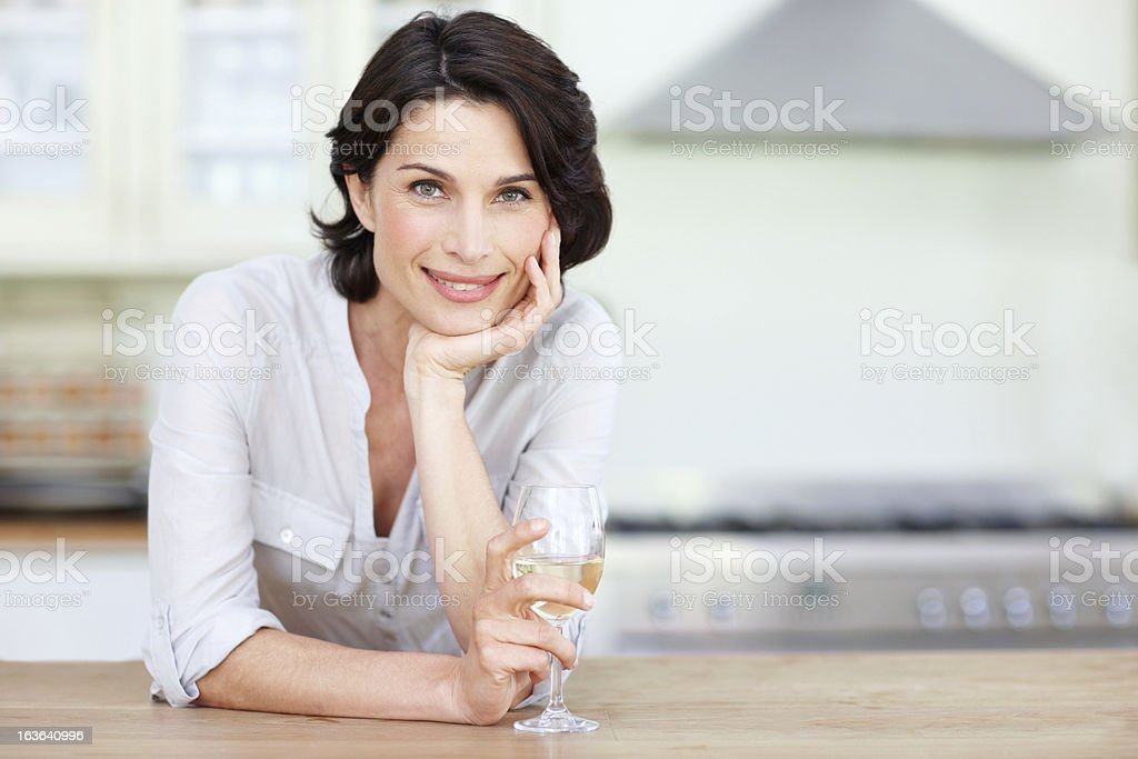 She's a sophisticated woman royalty-free stock photo