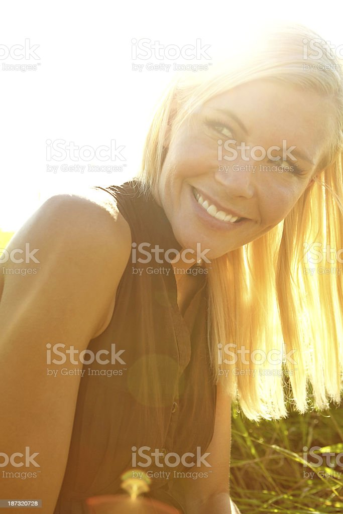 She's a summer beauty royalty-free stock photo