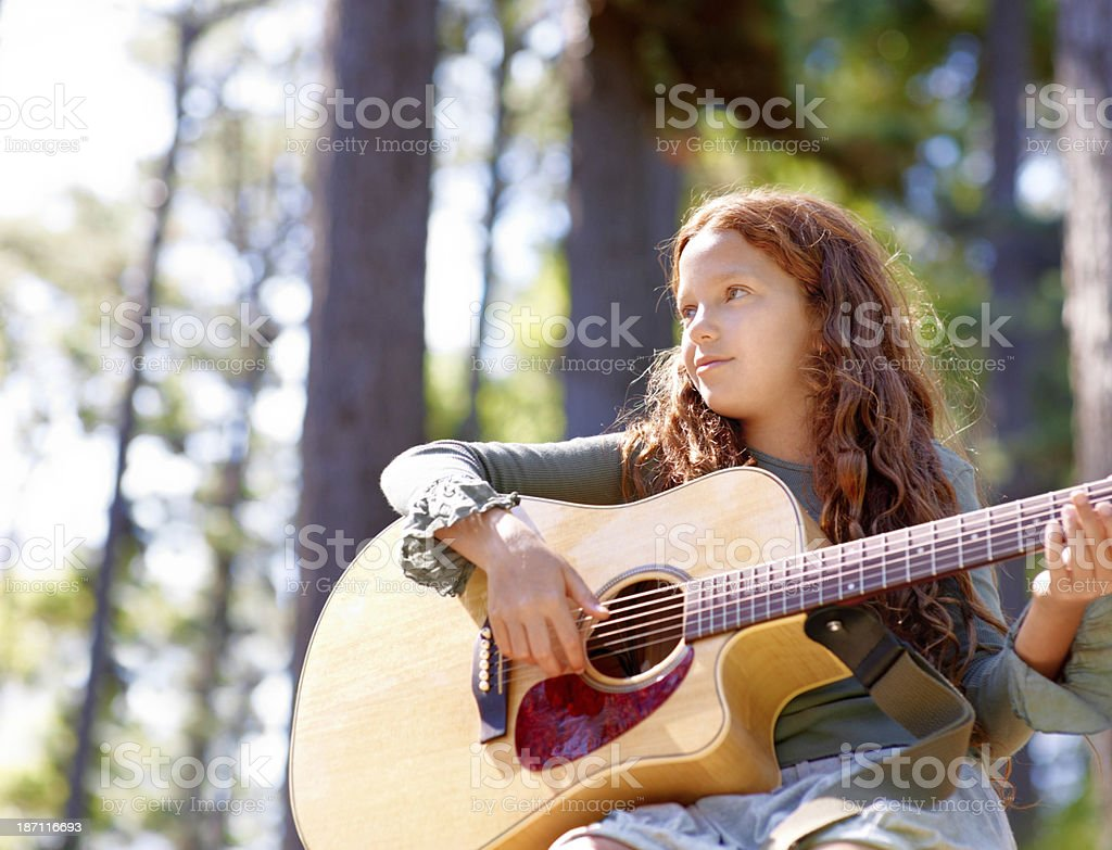 She's a talented musician royalty-free stock photo