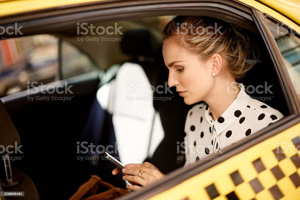 She's a woman on the move stock photo