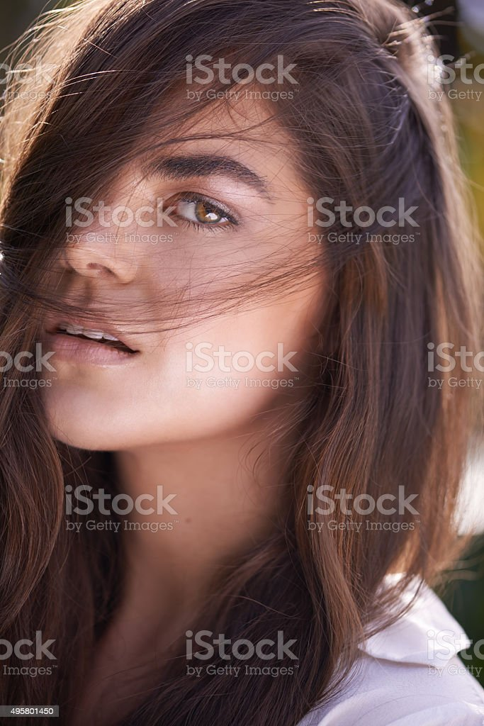 She's absolutely perfect stock photo
