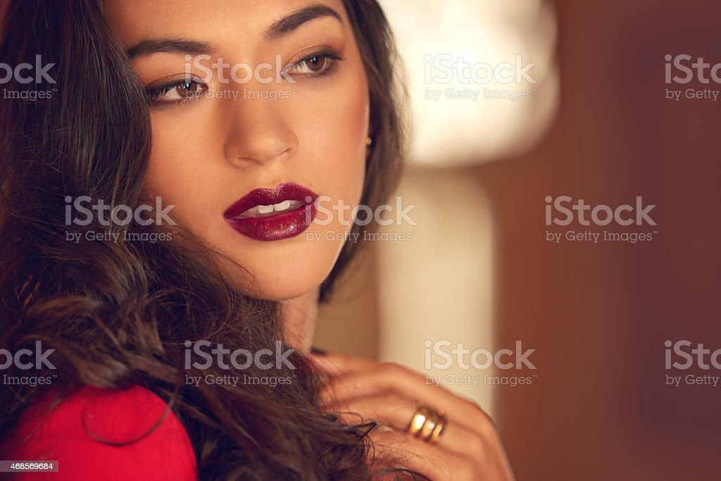 She's absolutely stunning stock photo