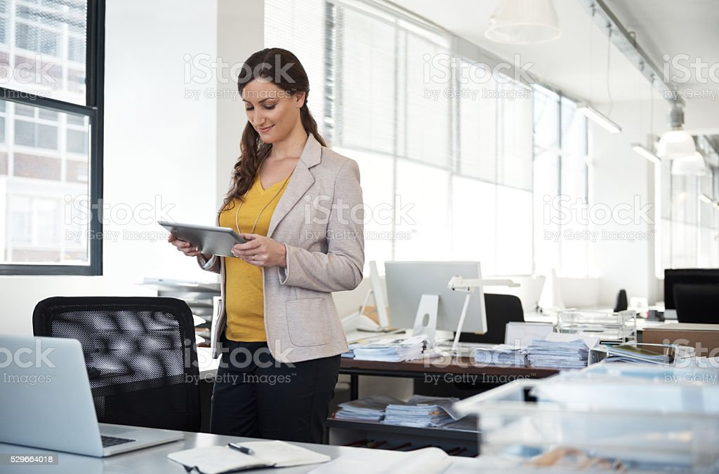 She's ahead of the curve stock photo