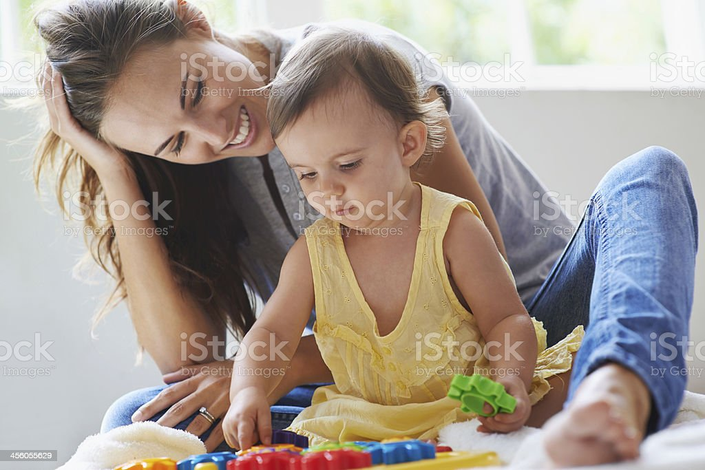 She's already got a mind of her own! stock photo