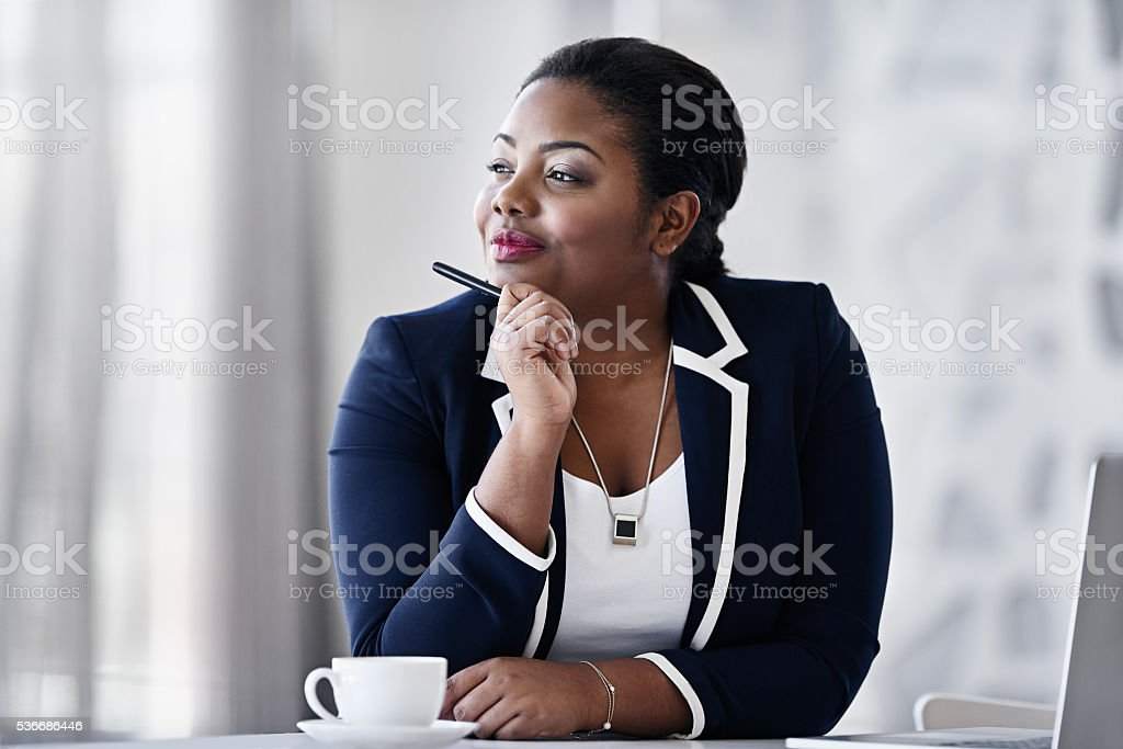 She's always coming up with new ideas... stock photo