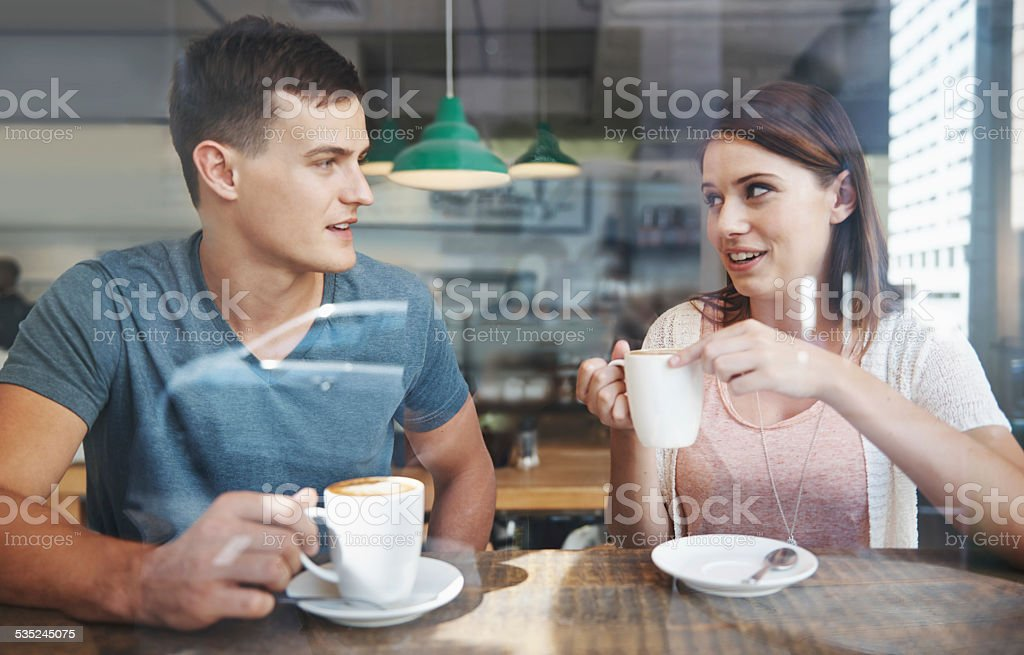 She's always had a crush on him stock photo