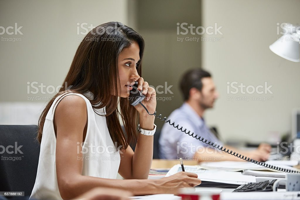 She's always there for her clients stock photo