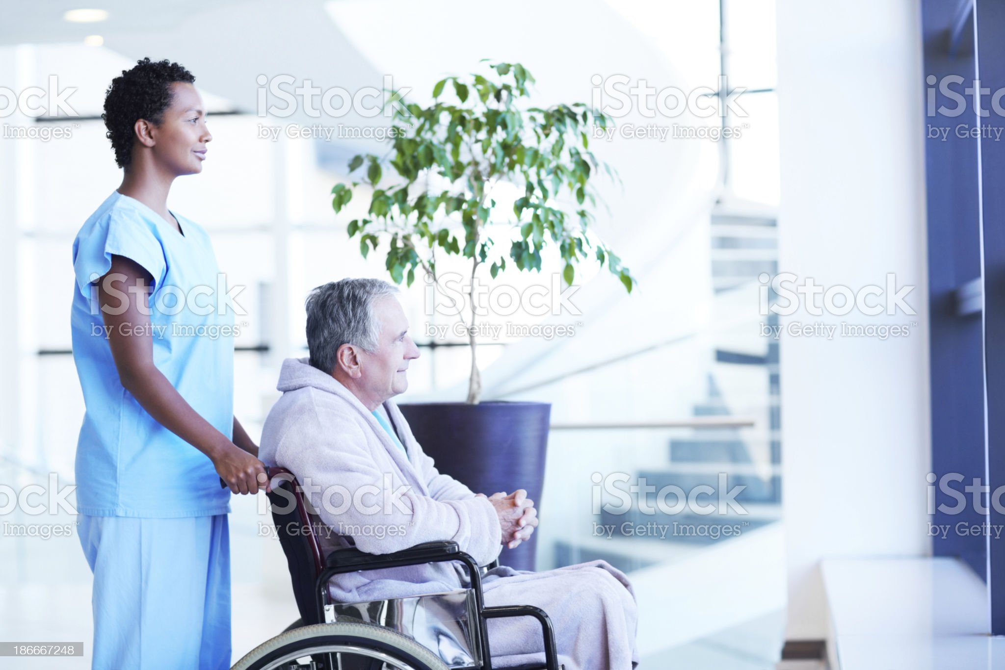 She's always there to help his recovery royalty-free stock photo