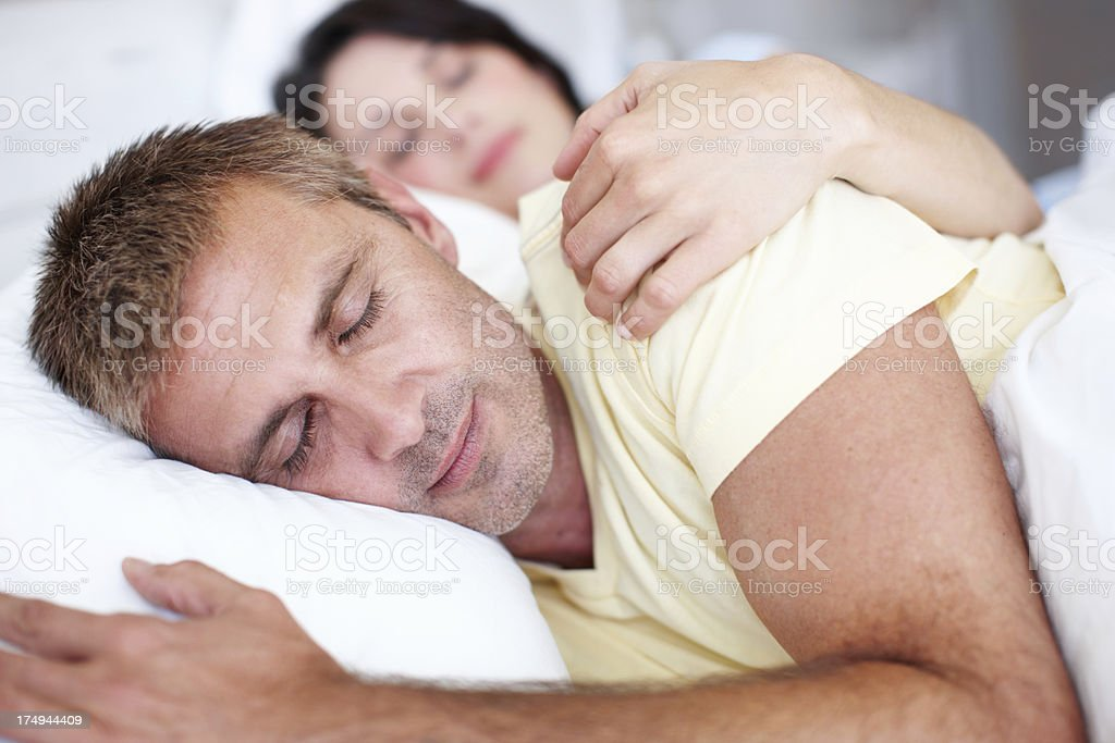 She's always there to support him royalty-free stock photo