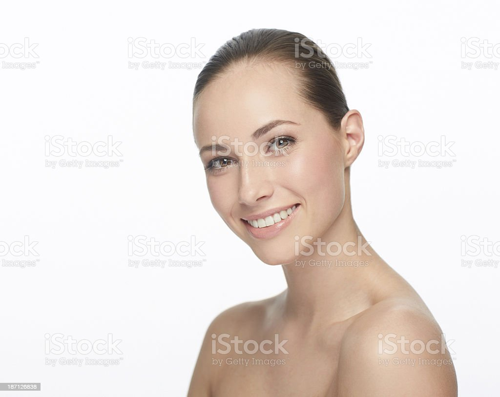 She's an all natural beauty royalty-free stock photo