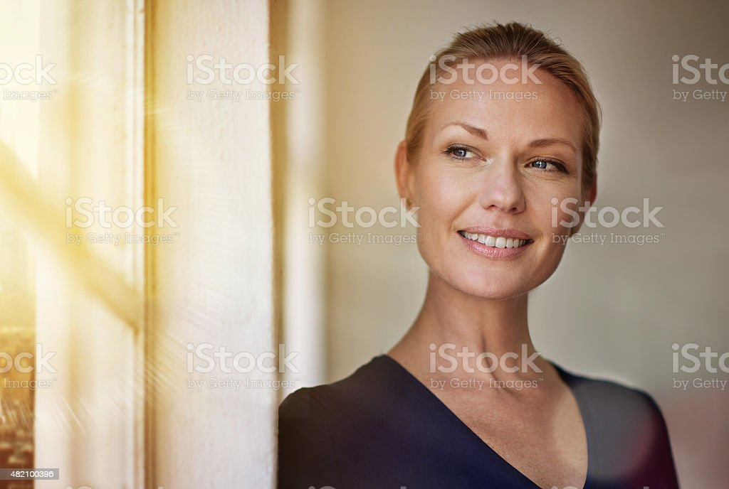 She's an ambitious professional stock photo