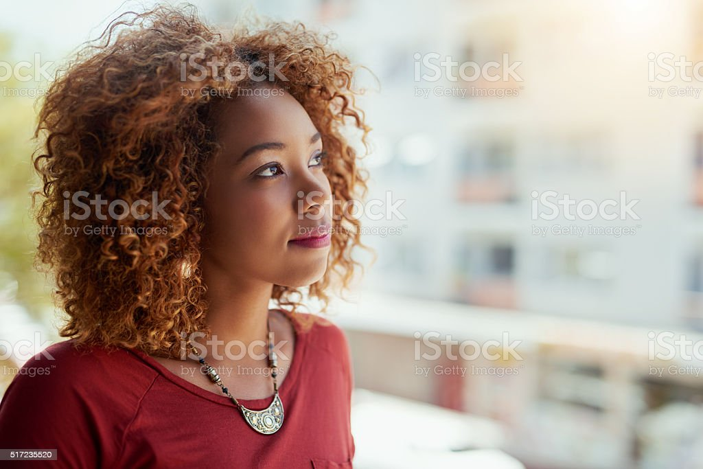 She's an ambitious young professional stock photo